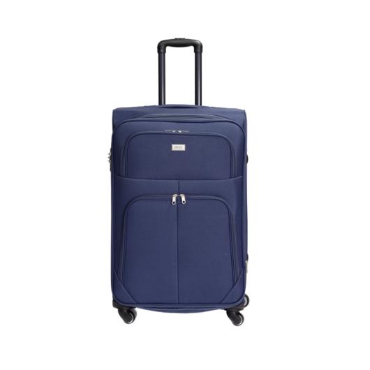 Szövet bőrönd sötét kék L méret