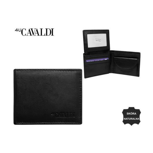 Férfi bőr pénztárca fekete kis méret patent nélküli